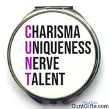 Charisma Uniqueness Nerve and Talent - Compact Mirror