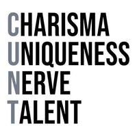 """Charisma Uniqueness Nerve & Talent"" - Water Bottle"