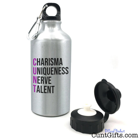 Charisma Uniqueness Nerve and Talent - Water Bottle - Purple