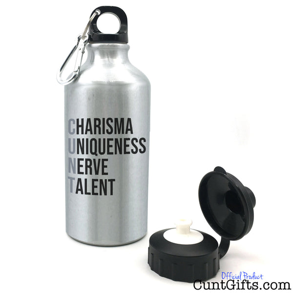 Charisma Uniqueness Nerve and Talent - Water Bottle