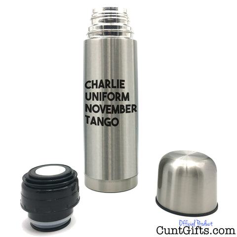 Charlie Uniform November Tango - Flask