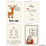 Cunt Christmas Cards Multipack A