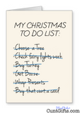"""Christmas to do list"" - Christmas Card"