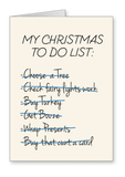 Christmas To Do List - Christmas Card
