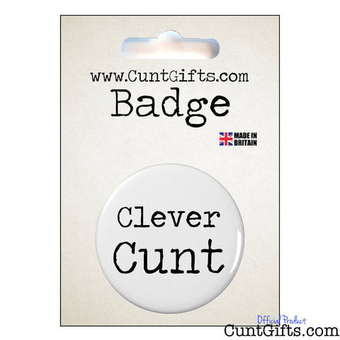 Clever Cunt - Badge & Packaging