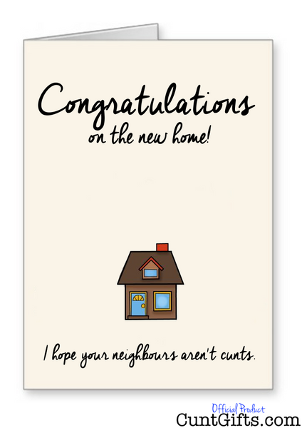 Congratulations on the new home - Greeting Card
