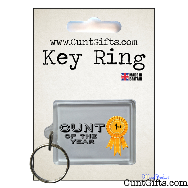 Cunt of the Year - Key ring in Packaging