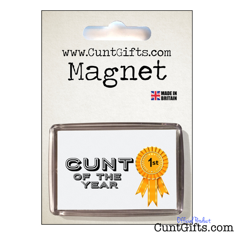 Cunt of the Year- Magnet in Packaging
