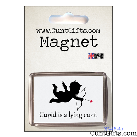Cupid is Cunt - Magnet on Card