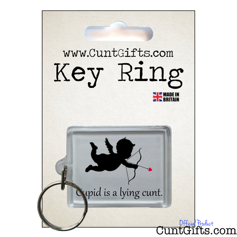Cupid is a lying cunt - Key Ring in Packaging