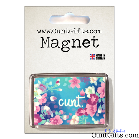 Flower Cunt Magnet in packaging