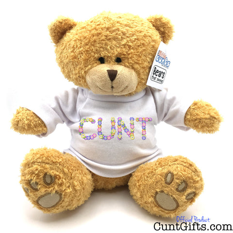 Flowery Cunt Teddy Bear