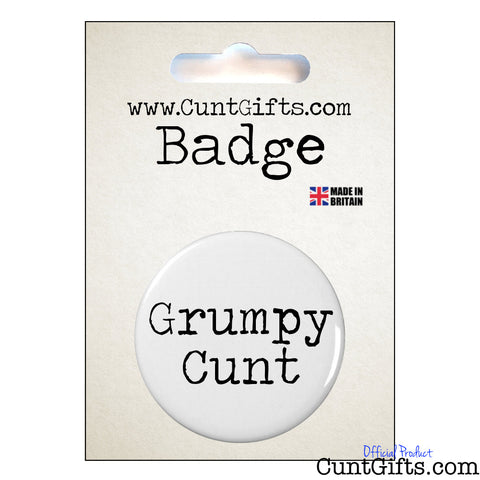 Grumpy Cunt - Badge & Packaging