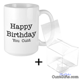 Happy Birthday You Cunt - Mug and Gift Box