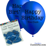 Happy Birthday You Cunt - Balloons - Blue - 5
