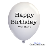 White Happy Birthday You Cunt Balloon