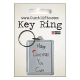 Happy Christmas You Cunt - Key Ring in Packaging nl