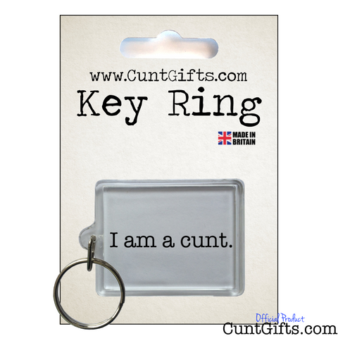 I am a Cunt - Key Ring in packaging
