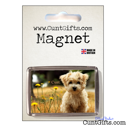 Little Dog Cunt Magnet in Packaging