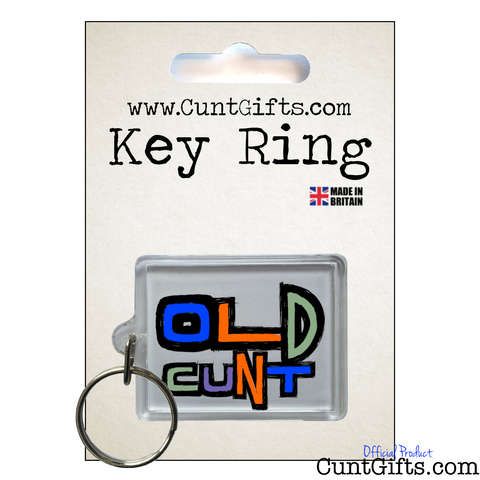 Old Cunt - Key Ring in Packaging