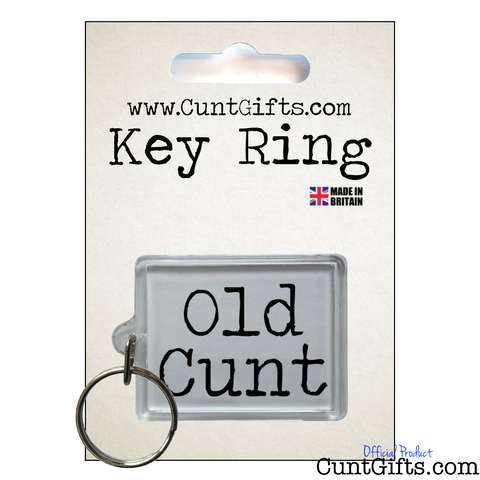 Old Cunt Keyring in Packaging