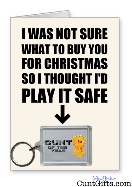 """Cunt of the Year"" - Christmas Card & Keyring Combo"