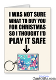 Play it safe - Flower Cunt Christmas Card