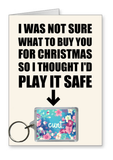 Play it safe - Flower Cunt Christmas Card nl