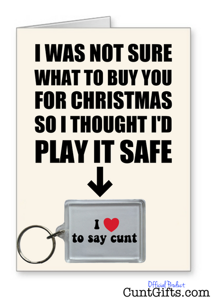 """I love to say cunt"" - Christmas Card & Keyring Combo"