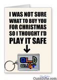 """Old Cunt"" - Christmas Card & Keyring Combo"