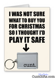 """Cunt"" - Christmas Card & Keyring Combo"