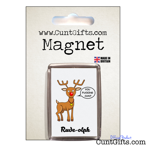 Rude-olph Fucking Cunt - Magnet in Packaging