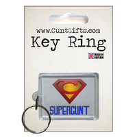 Supercunt - Key Ring in Packaging nl