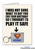 Supercunt - Birthday Card and Key Ring Combo