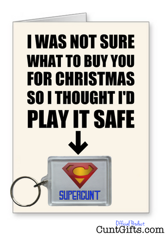 Supercunt Play It Safe - Christmas