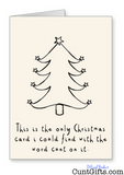 """A Christmas card with the word cunt on it"""