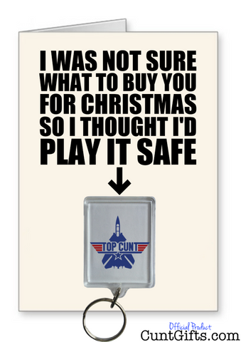 Top Cunt Play It Safe - Christmas Card