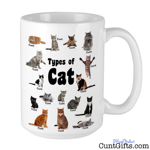 Types of Cats Cunt - Mug