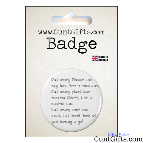 Wow! you can read cunt - Badge in Packaging