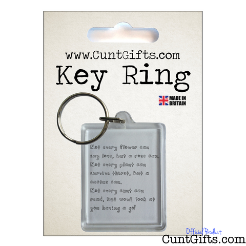 Wow Cunt - Key Ring in Packaging