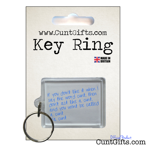 Ya Cunt - Key Ring in packaging