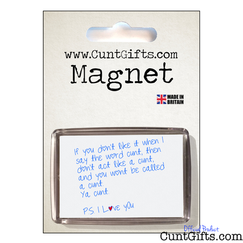 Ya Cunt - Magnet in packaging