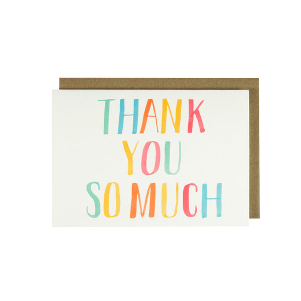 Colorful Thank You So Much - Thank You Card Set