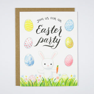 Little Bunny Easter Party Invitation