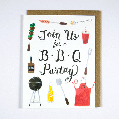 BBQ Partay Invitation