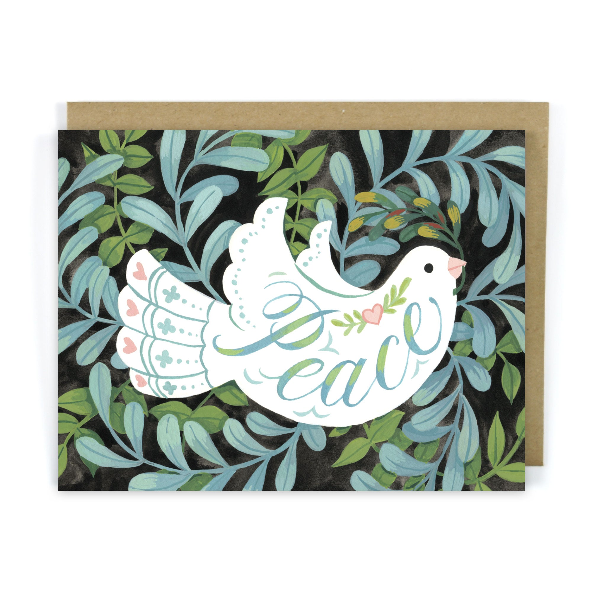 Peace & Dove - Christmas Greeting Card