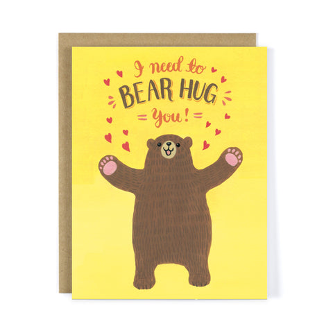 Bear Hug Greeting Card