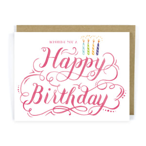 Flourish Happy Birthday Greeting Card