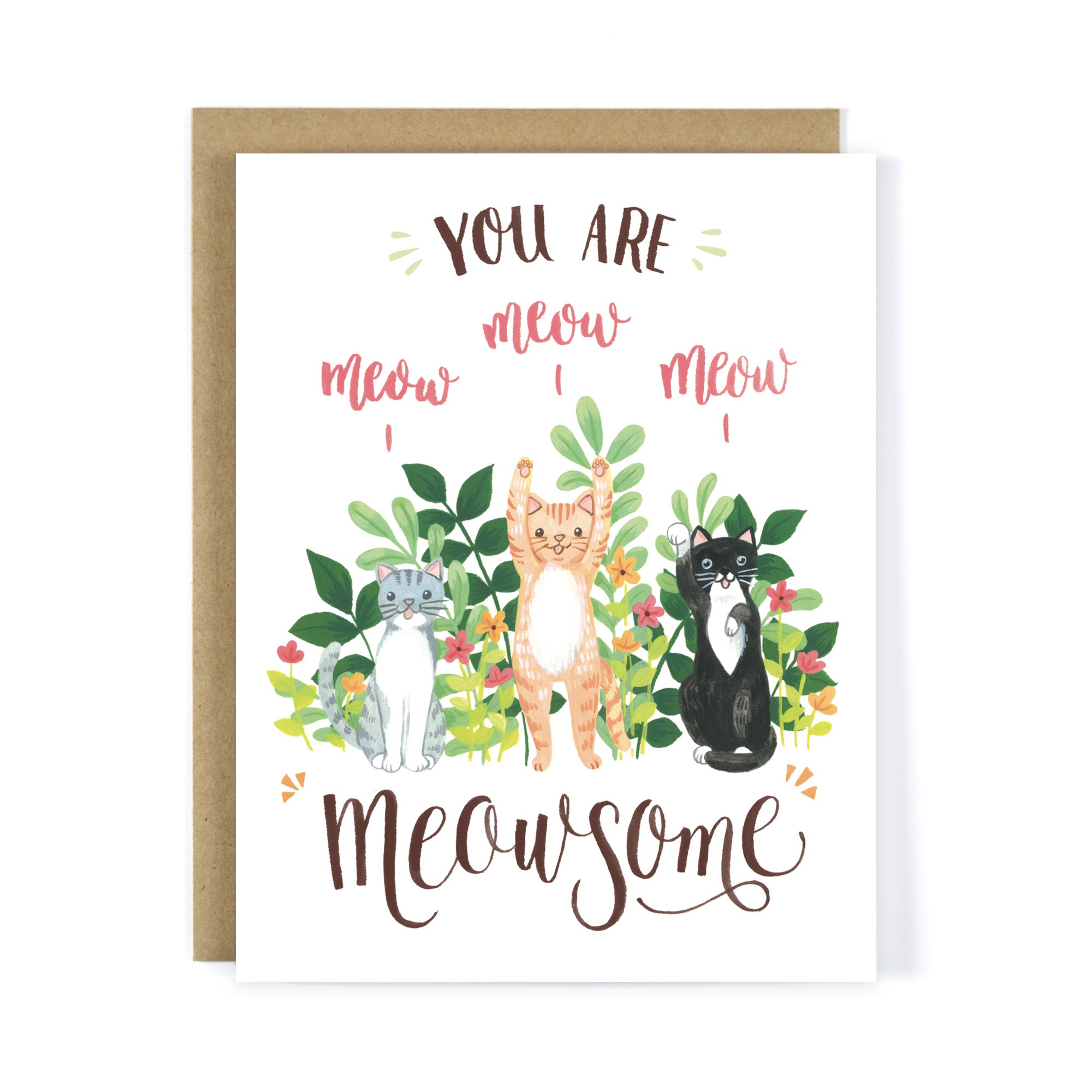 You Are Meowsome - Congrats Card