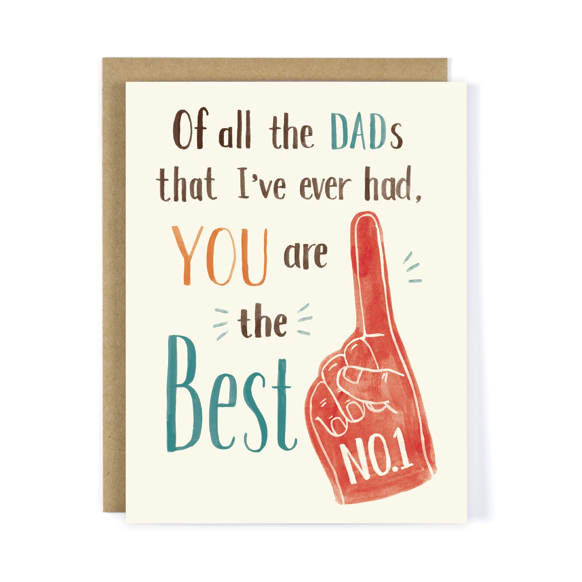 No.1 Best Dad Father's Day Greeting Card